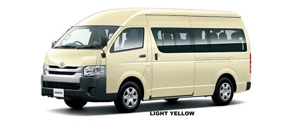 Toyota Hiace Commuter 2018 in Light Yellow