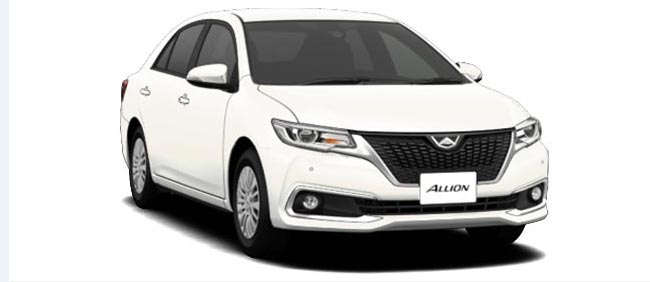 Toyota Allion 2019 in White Pearl Crystal Shine