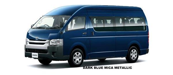 Toyota Hiace Commuter 2018 in Dark Blue Mica Metallic