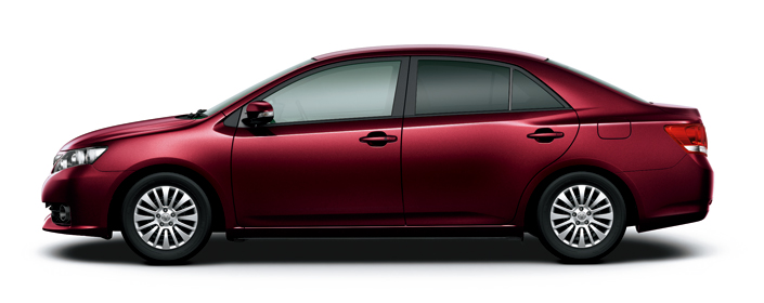 Toyota Allion 2018 in Brassens Quiche Red Mica