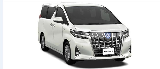 Toyota Alphard 2019 in White Pearl Crystal Shine