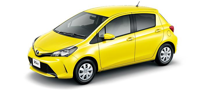 Toyota Vitz 2018 in Luminous Yellow