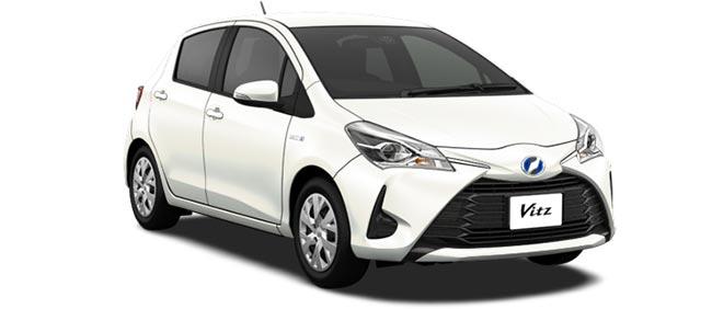 Toyota Vitz 2019 in White Pearl Crystal Shine