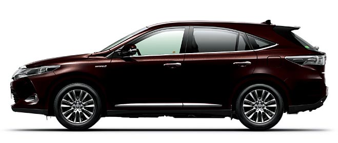 Toyota Harrier 2018 in Blackish Red Mica