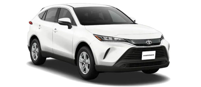 Toyota Harrier 2019 in White Pearl Crystal Shine