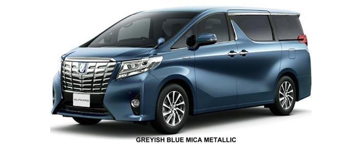 Toyota Alphard 2019 in Grayish Blue Mica Metallic