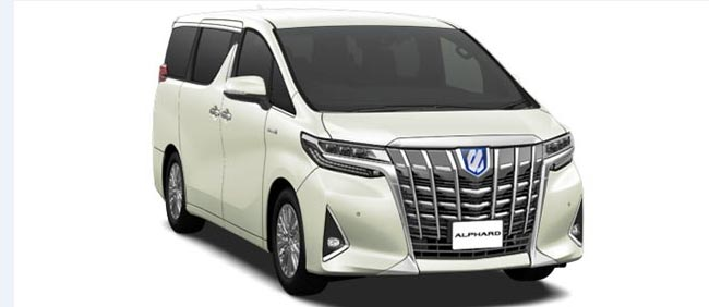 Toyota Alphard 2019 in Luxury White Pearl Crystal Shine glass