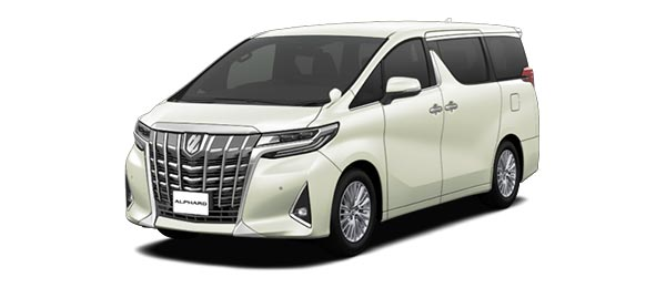Toyota Alphard 2018 in Luxury White Pearl Crystal Shine glass