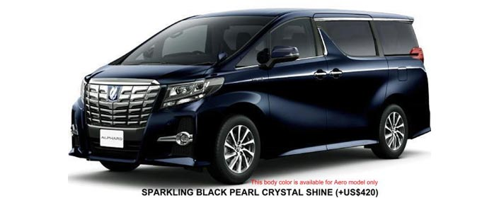 Toyota Alphard 2019 in Sparkling Black Pearl Crystal Shine