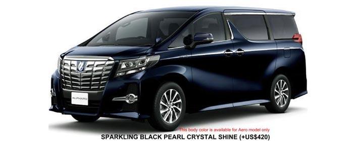 Toyota Alphard 2018 in Sparkling Black Pearl Crystal Shine