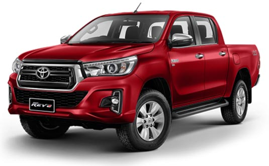 Toyota Hilux Revo Double Cab 2018 in Crimson Spark Red Metalic