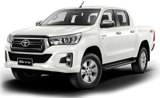 Toyota Hilux Revo Double Cab 2019 in White Pearl Crystal Shine