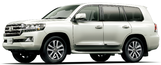 Toyota Land Cruiser 2019 in Luxury White Pearl Crystal Shine glass