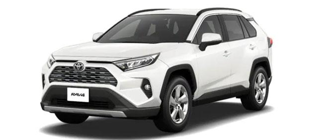 Toyota Rav4 2021 in White Pearl Crystal Shine