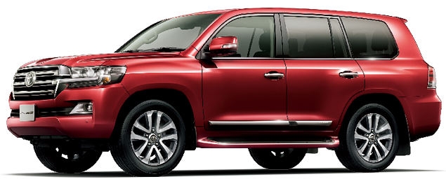 Toyota Land Cruiser 2018 in Dark Red Mica Metallic