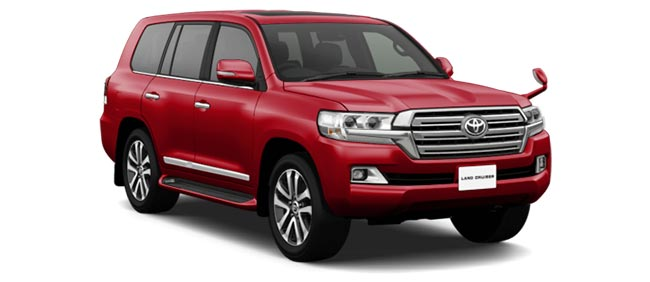 Toyota Land Cruiser 2019 in Dark Red Mica Metallic