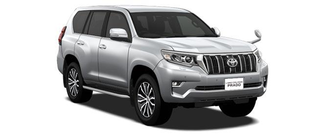 Toyota Land Cruiser Prado 2018 in Silver Metallic