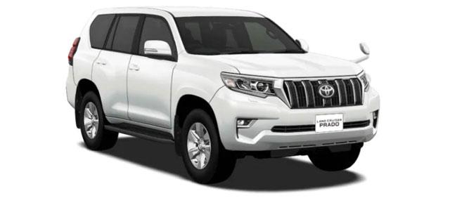 Toyota Land Cruiser Prado 2018 in White Pearl Crystal Shine