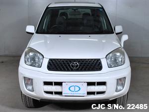 2003 toyota rav4 white for sale stock no 22485 japanese used cars exporter. Black Bedroom Furniture Sets. Home Design Ideas