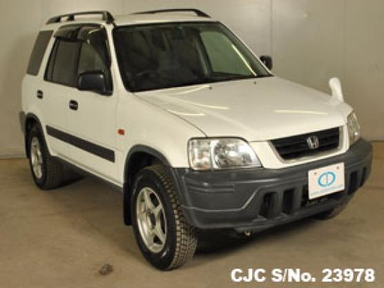 1997 honda crv white for sale stock no 23978 japanese used cars exporter. Black Bedroom Furniture Sets. Home Design Ideas