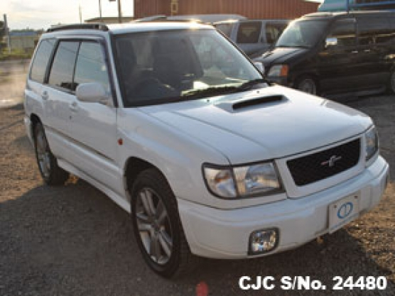 1999 Subaru Forester White For Sale Stock No 24480 Japanese Used Cars Exporter