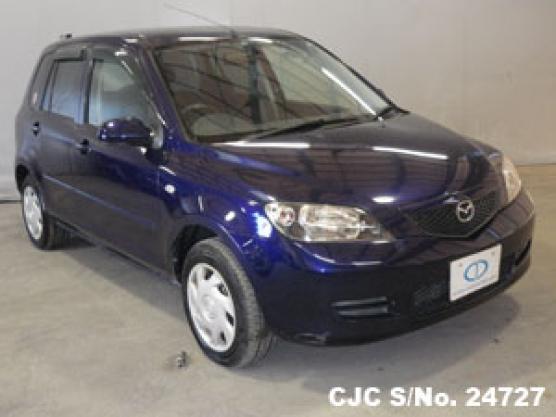 2003 mazda demio blue for sale stock no 24727 japanese used rh carjunction com 2001 Mazda Demio 2002 Mazda Demio