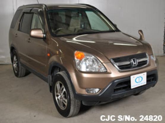 2002 honda crv gold for sale stock no 24820 japanese used cars exporter. Black Bedroom Furniture Sets. Home Design Ideas