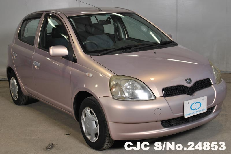 1999 toyota vitz yaris pink for sale stock no 24853 japanese used cars exporter. Black Bedroom Furniture Sets. Home Design Ideas