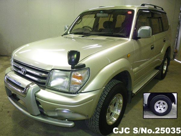 1998 toyota land cruiser prado silver for sale stock no 25035 japanese used cars exporter. Black Bedroom Furniture Sets. Home Design Ideas