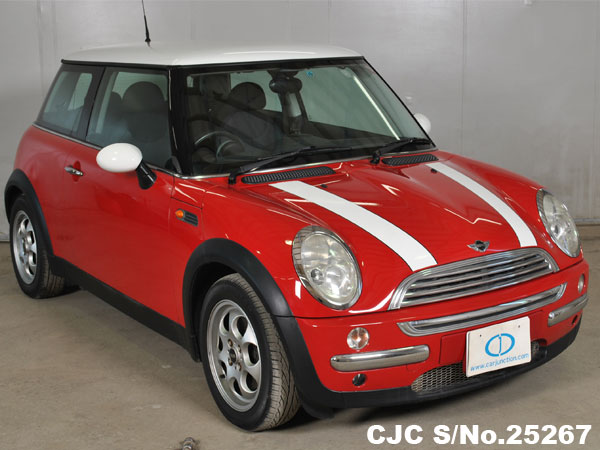2002 mini cooper red for sale stock no 25267 japanese used cars exporter. Black Bedroom Furniture Sets. Home Design Ideas