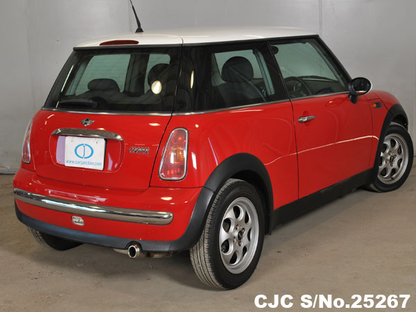 Back View of Mini Cooper