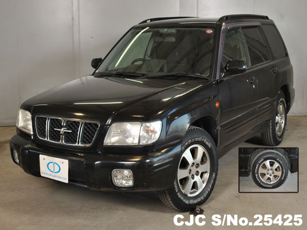2000 subaru forester black for sale stock no 25425 japanese used cars exporter. Black Bedroom Furniture Sets. Home Design Ideas