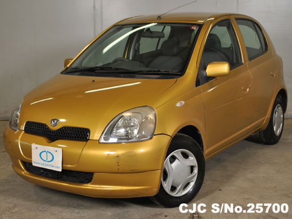 2000 toyota vitz yaris gold for sale stock no 25700 japanese used cars exporter. Black Bedroom Furniture Sets. Home Design Ideas