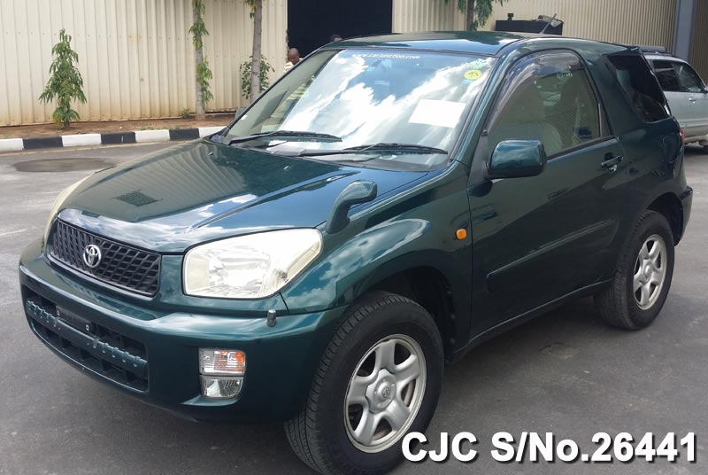2001 toyota rav4 dark green for sale stock no 26441 japanese used cars exporter. Black Bedroom Furniture Sets. Home Design Ideas