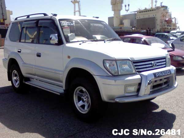 2000 toyota land cruiser prado white 2 tone for sale stock no 26481 japanese used cars exporter 2000 toyota land cruiser prado white 2