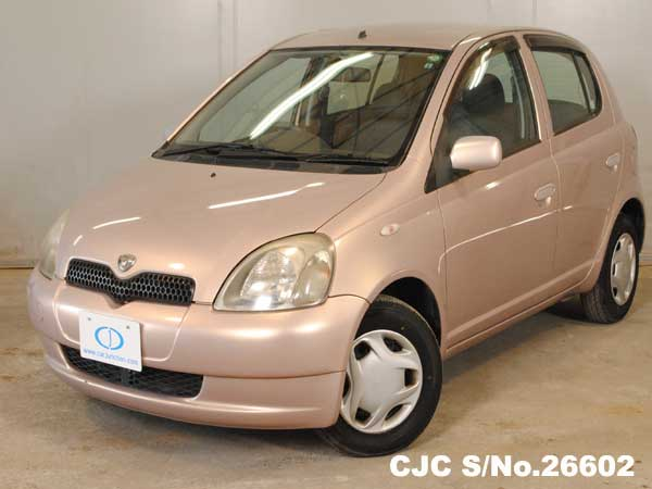 2000 toyota vitz yaris pink for sale stock no 26602 japanese used cars exporter. Black Bedroom Furniture Sets. Home Design Ideas