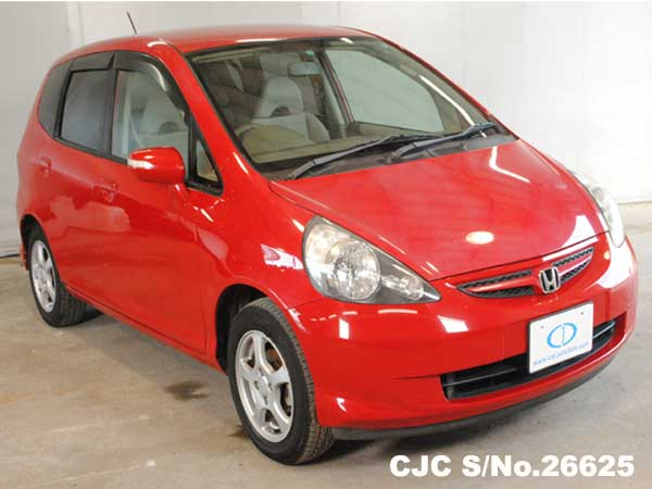 2007 Honda Fit Red for sale | Stock No. 26625 | Japanese ...