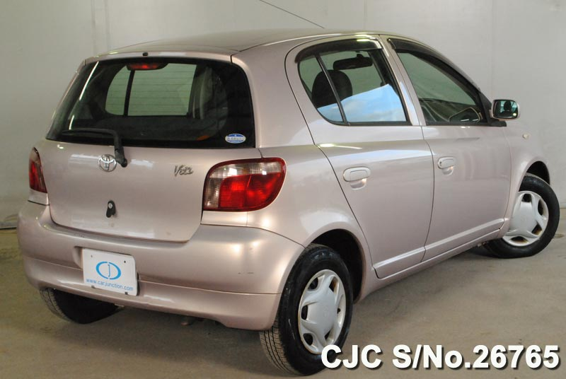 2001 toyota vitz yaris pink for sale stock no 26765 japanese used cars exporter. Black Bedroom Furniture Sets. Home Design Ideas