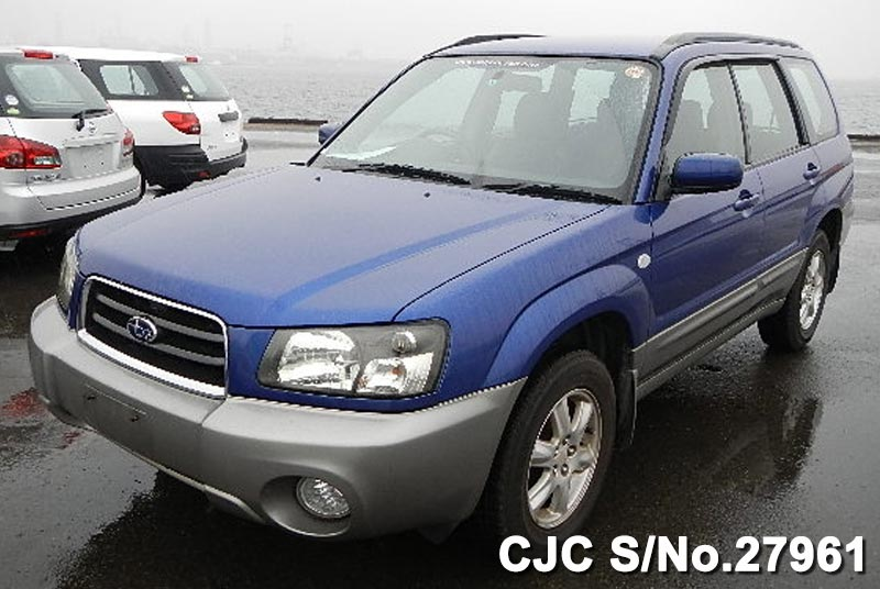 2003 subaru forester blue 2 tone for sale stock no 27961 japanese used cars exporter. Black Bedroom Furniture Sets. Home Design Ideas