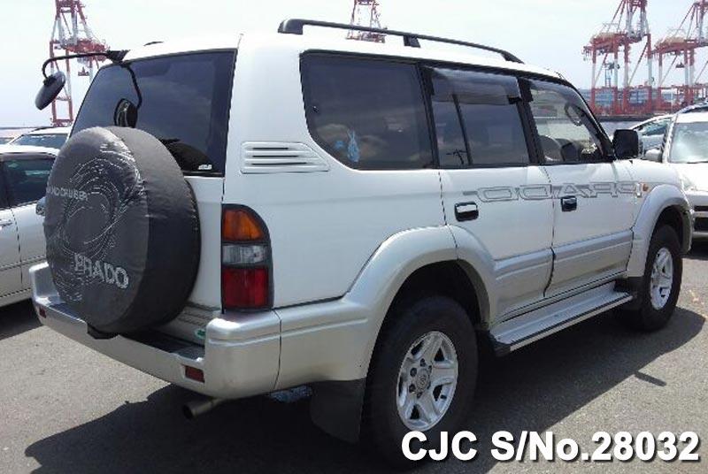 1998 toyota land cruiser prado white 2 tone for sale stock no 28032 japanese used cars exporter. Black Bedroom Furniture Sets. Home Design Ideas