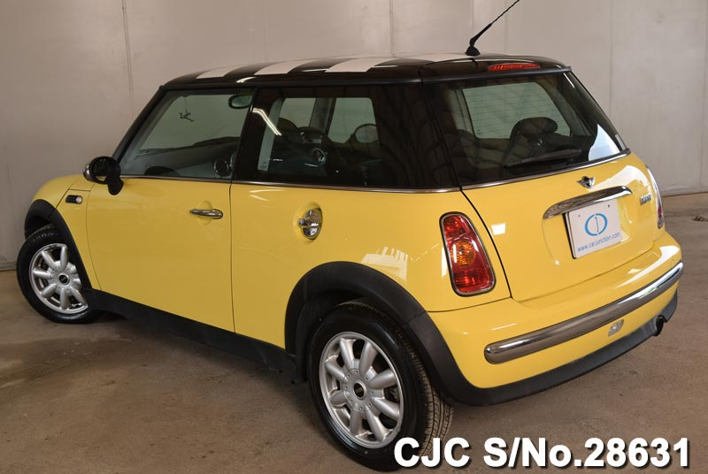 2002 mini cooper yellow for sale stock no 28631 japanese used cars exporter. Black Bedroom Furniture Sets. Home Design Ideas