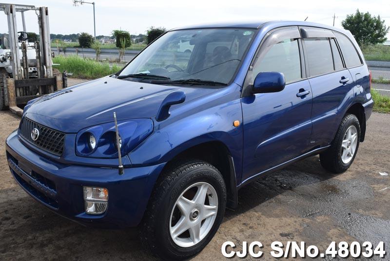 2001 toyota rav4 blue for sale stock no 48034 japanese used cars exporter. Black Bedroom Furniture Sets. Home Design Ideas