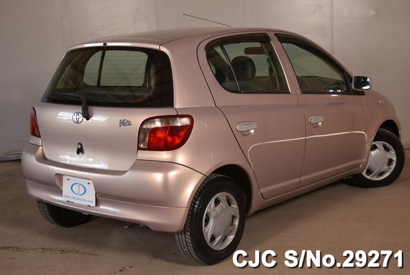 1999 toyota vitz yaris pink for sale stock no 29271 japanese used cars exporter. Black Bedroom Furniture Sets. Home Design Ideas