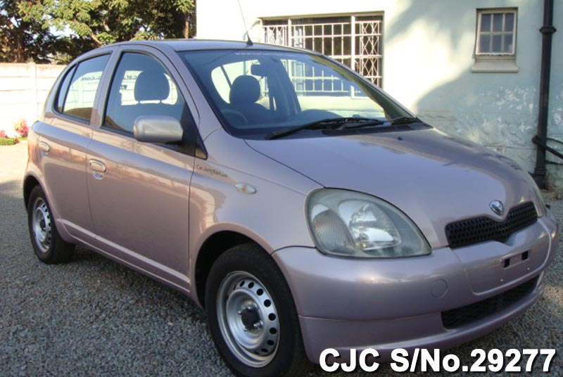 2001 toyota vitz yaris pink for sale stock no 29277 japanese used cars exporter. Black Bedroom Furniture Sets. Home Design Ideas