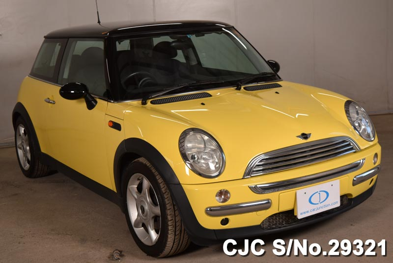 2002 mini cooper yellow for sale stock no 29321 japanese used cars exporter. Black Bedroom Furniture Sets. Home Design Ideas
