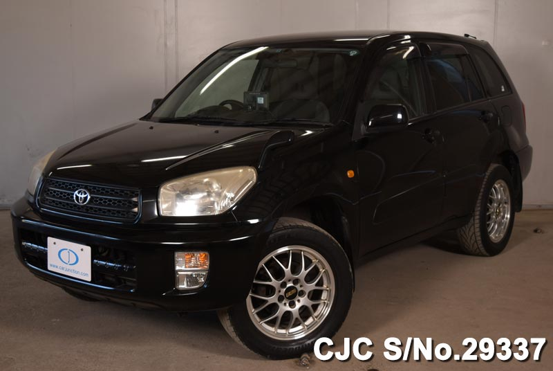 2001 toyota rav4 black for sale stock no 29337 japanese used cars exporter. Black Bedroom Furniture Sets. Home Design Ideas