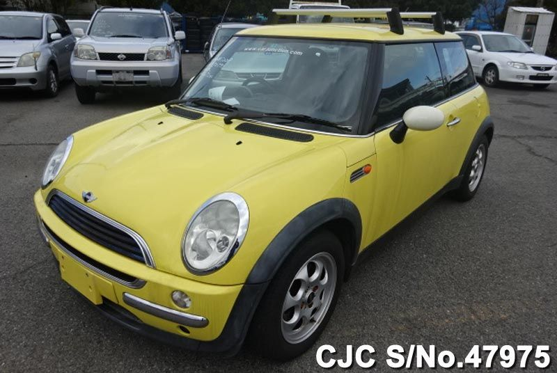 2002 mini cooper yellow for sale stock no 47975 japanese used cars exporter. Black Bedroom Furniture Sets. Home Design Ideas