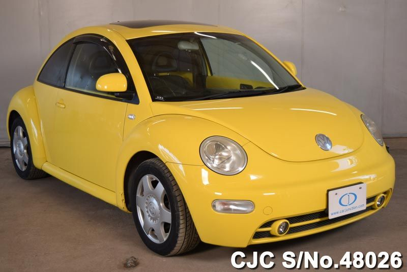 2003 volkswagen beetle yellow for sale stock no 48026 japanese used cars exporter. Black Bedroom Furniture Sets. Home Design Ideas