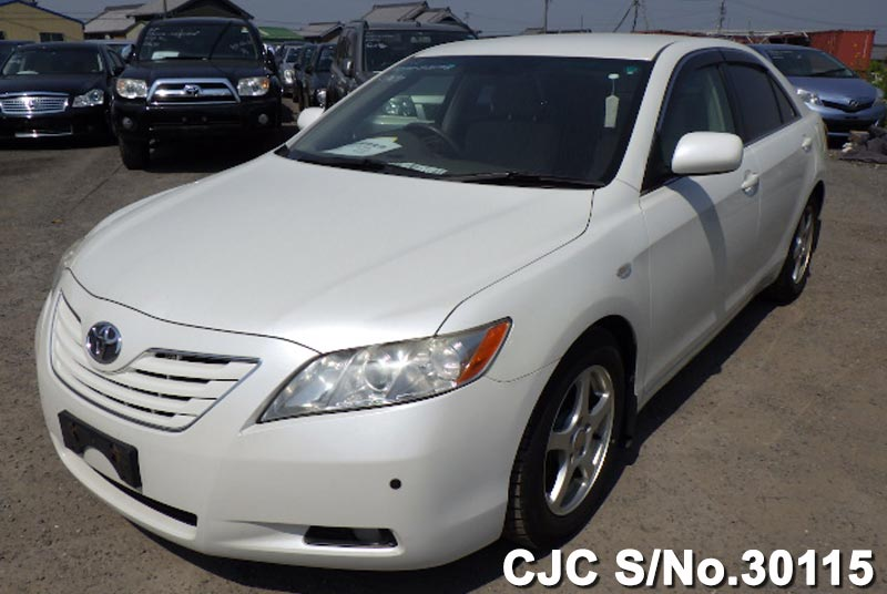 2006 toyota camry white for sale stock no 30115 japanese used cars exporter. Black Bedroom Furniture Sets. Home Design Ideas