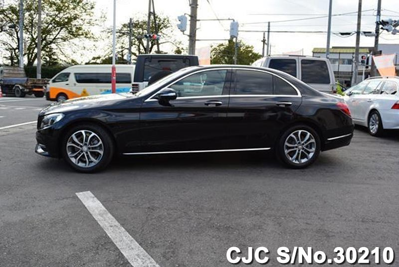 2014 mercedes benz c class black for sale stock no 30210 japanese used cars exporter. Black Bedroom Furniture Sets. Home Design Ideas
